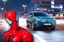 Spider-Man in een Hyundai KONA Electric?